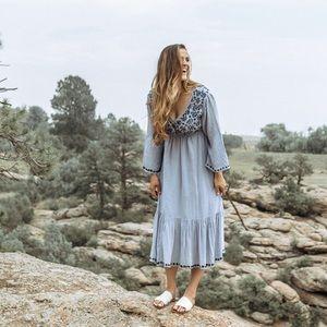 raga embroidered dress